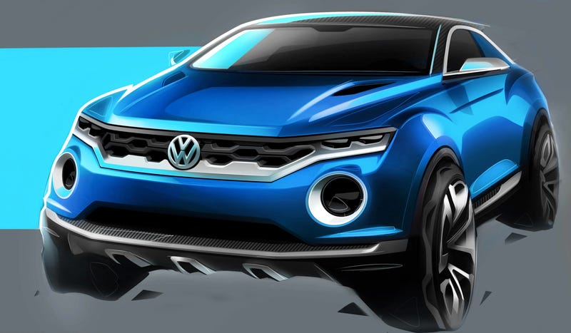 Illustration for article titled The Volkswagen T-ROC Concept Is VW's Idea Of A Juke