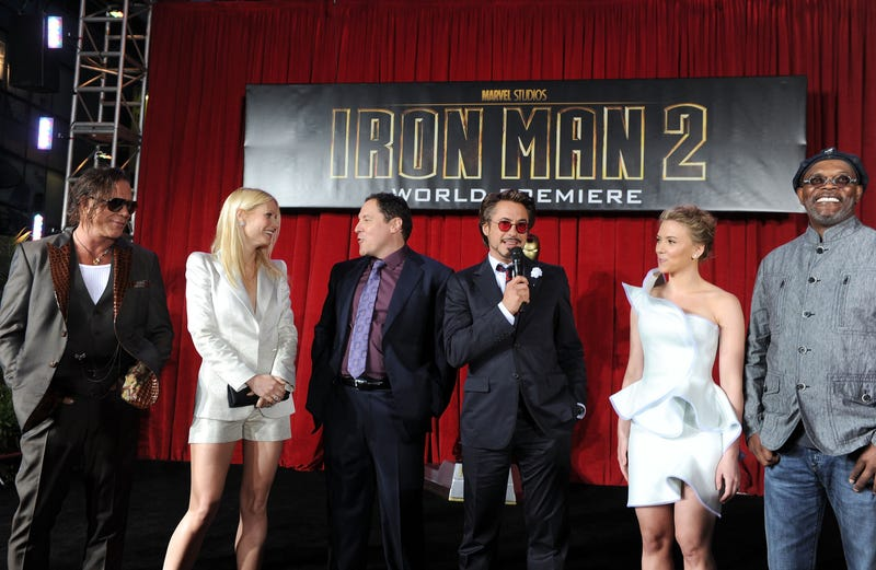 Gwyneth Paltrow, five others, at the Iron Man 2 premiere.