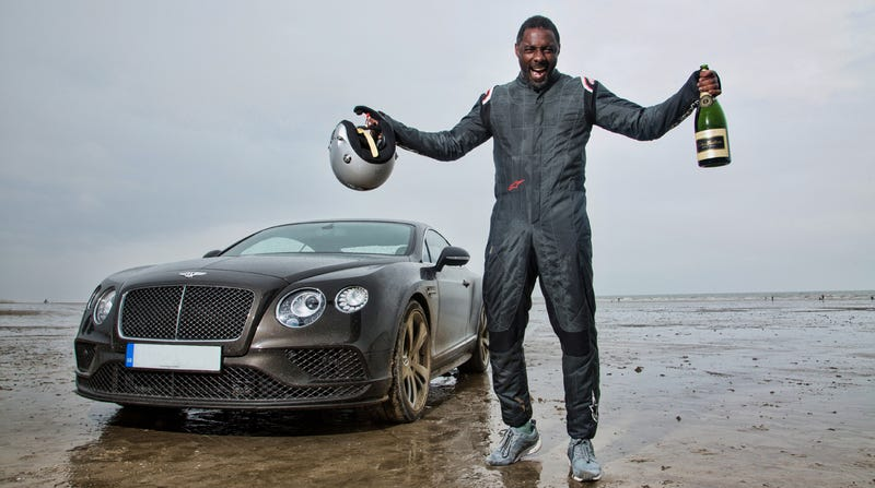 Illustration for article titled Noted Badass Idris Elba Breaks An 88-Year-Old Speed Record In A Bentley