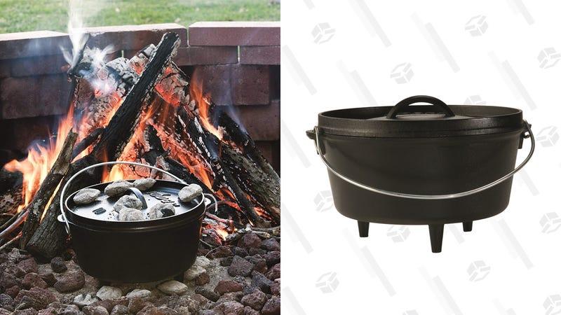 Lodge Cast Iron Deep Camp Dutch Oven, Pre-Seasoned, 5-Quart | $41 | Amazon