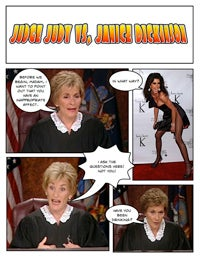 Illustration for article titled Comic Confrontations: Judge Judy Vs. Janice Dickinson