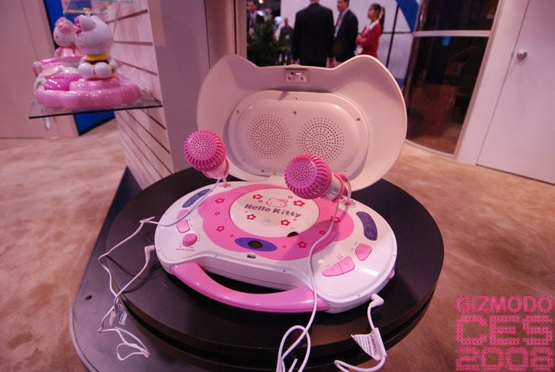 Illustration for article titled Hello Kitty Gallery and CES 2008 Booth Tour