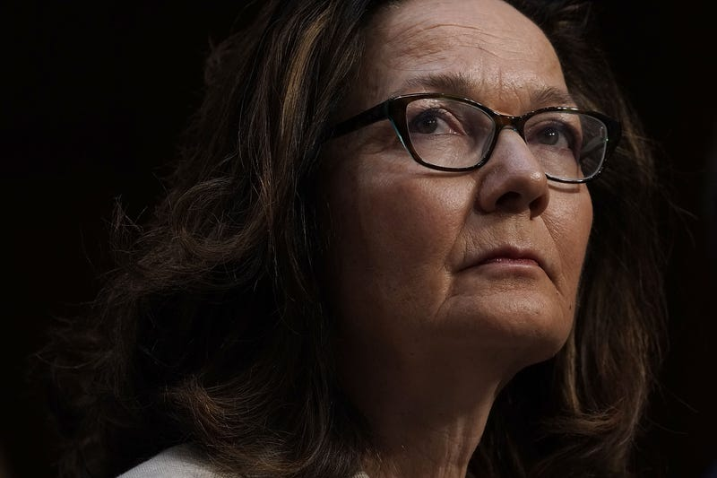 Gina Haspel listens during her confirmation hearing before the Senate Committee on Intelligence May 9, 2018, in Washington, D.C.