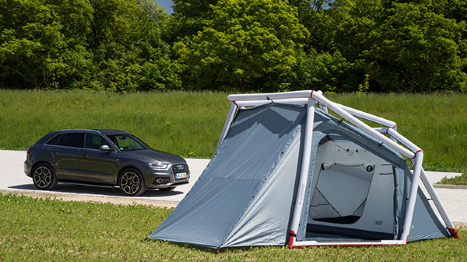 & Double The Size Of Your Audi Q3 With This Space-Age Inflatable Tent