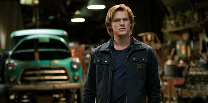 X-Man Lucas Till stars in Monster Trucks, which is not what you are thinking. Image: Paramount