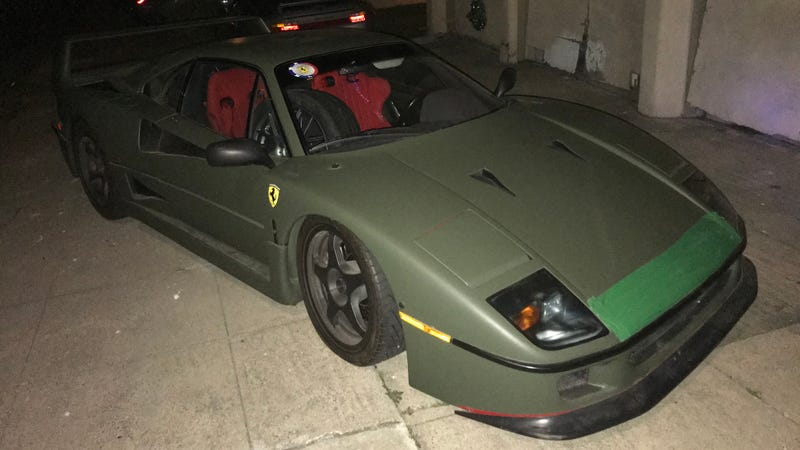 Somebody Street Parks Their Ferrari F40