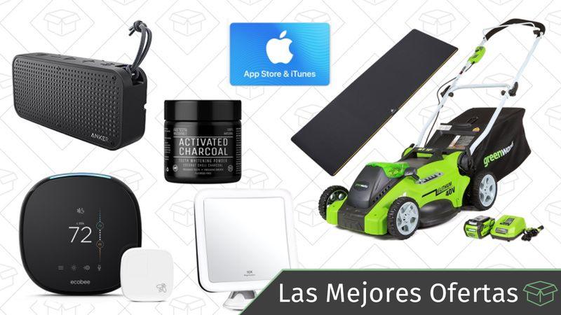 Illustration for article titled Las mejores ofertas de este lunes: Termostato inteligente, altavoz con resistencia al agua, tarjeta regalo de iTunes y más