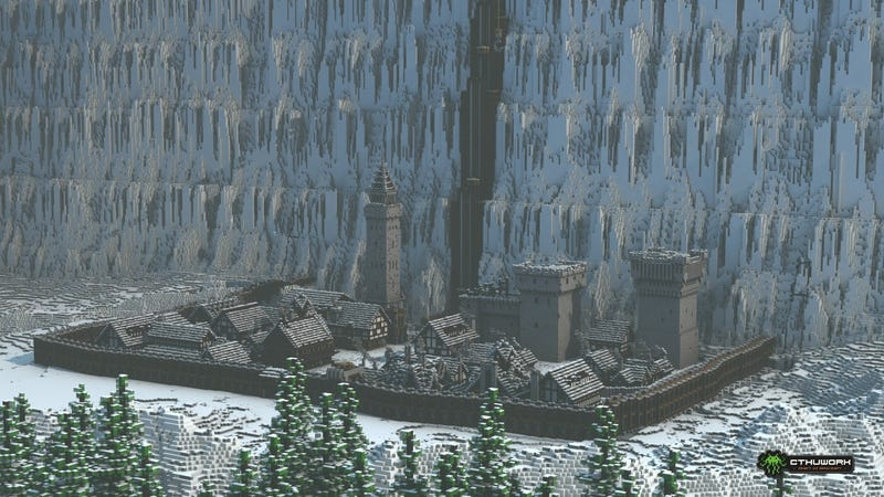 Game Of Thrones Castle Black And The Wall Look Awesome In Minecraft