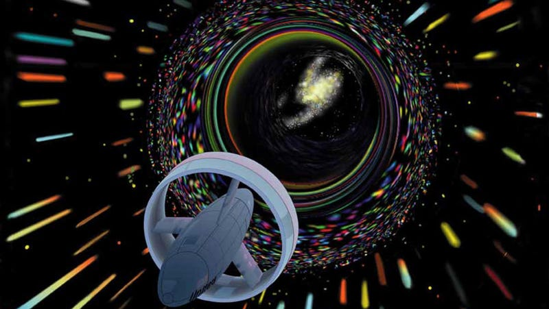 Wormhole travel envisioned by Les Bossinas for NASA.