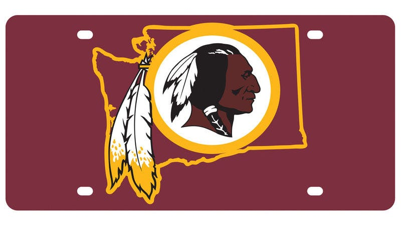 Illustration for article titled NFL's Novelty Skins License Plate Has One Very Big Problem