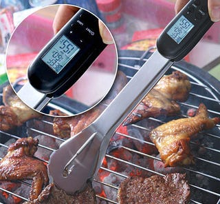 Illustration for article titled Digital BBQ Tongs: For When Geeks Gas Up The Grill