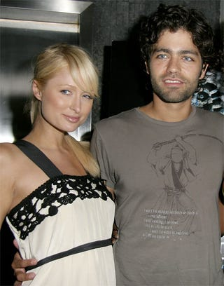 Illustration for article titled Adrian Grenier Markedly Less Cute In The Company Of Paris Hilton