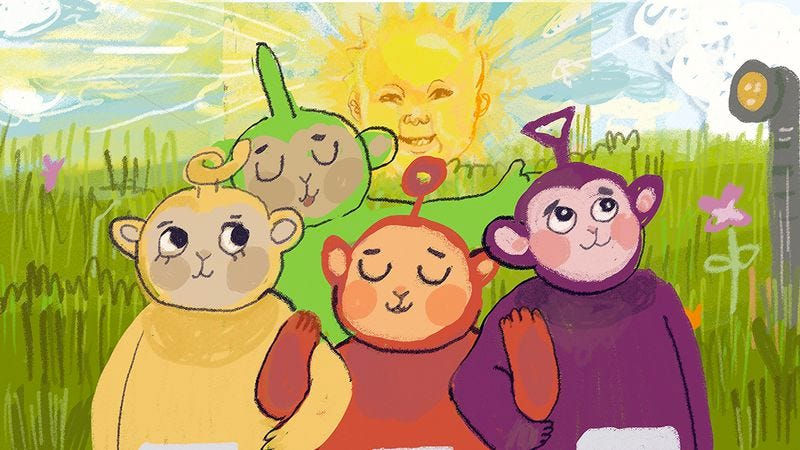 Illustration for article titled This Teletubbies prequel reveals an apocalyptic origin story