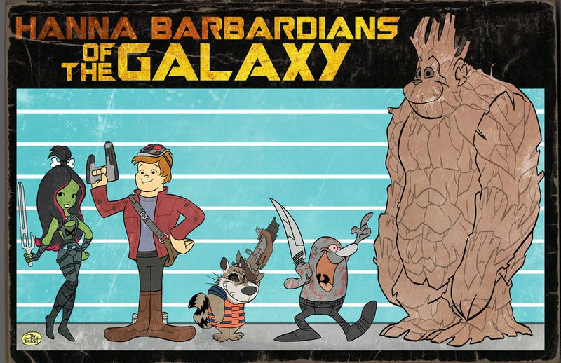 Illustration for article titled This Is What a 70s Guardians of the GalaxyCartoon Would've Looked Like