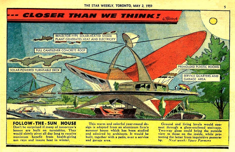 Illustration for article titled Follow-The-Sun House (1959)