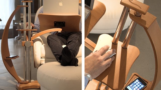 Turn Any Armchair Into A High Flyin Desk With A Laptop Stand