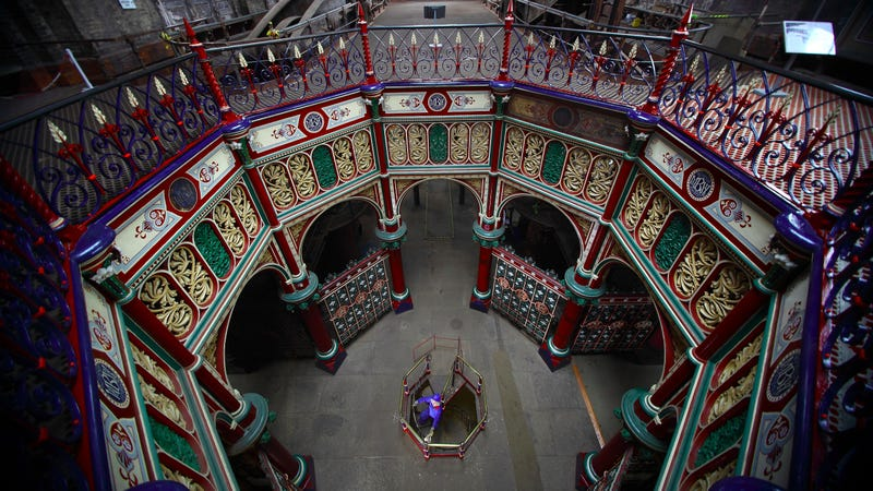 The Crossness Pumping Station mid-restoration, 2009. Photo via Getty Images.