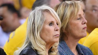 Shelly Sterling, the wife of Donald Sterling, watches the Los Angeles Clippers play against the Golden State Warriors in Game 4 of the Western Conference Quarterfinals.Thearon W. Henderson/Getty Images
