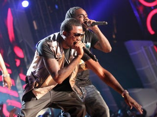 Meek Mill and Wale (Christopher Polk/Getty Images)