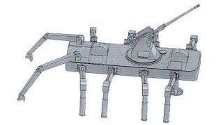Illustration for article titled China's Next Tank Could Be This Weaponzied Robotic Spider
