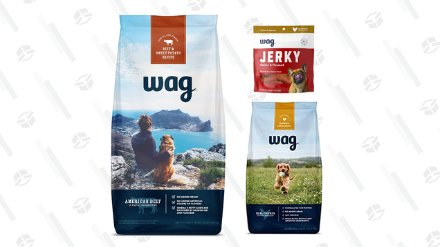 Stock Up and Save 40% on Amazon's Wag Dog Food for Your Furry Friend
