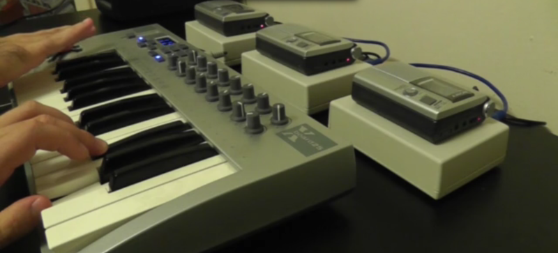 Hacker Turns Casette Players Into Creepy DIY Synth