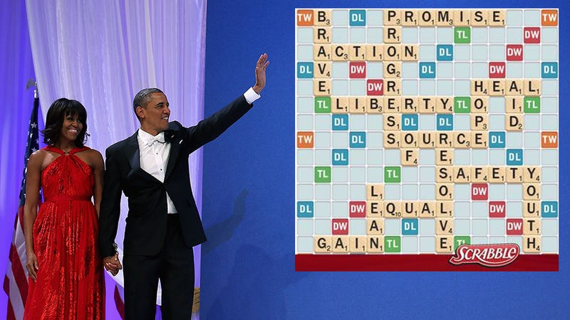 Illustration for article titled The Real Question is How Many Points Was Obama's Inauguration Speech Worth in Scrabble?