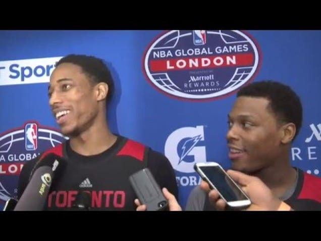 A Brief But Amusing Math Lesson From Kyle Lowry And DeMar DeRoz…