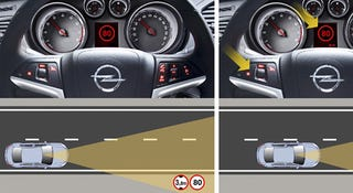 Illustration for article titled British Vauxhall Cars Have New Camera That Scans Signs, Displays Current Speed Limit