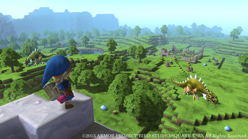 Illustration for article titled New Dragon Quest Looks Like Minecraft