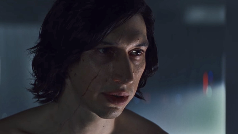 Kylo Ren warns Rey of the dangers of living the past, the hypocrite that he is.