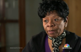 """Charolette Tidwell: """"Service was something that I've always been involved in.""""NBC News screenshot"""