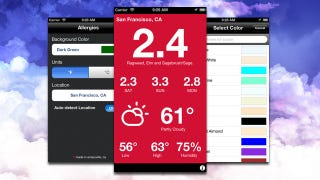 Illustration for article titled Allergies Provides an Allergy-Centric Weather Report on Your iPhone