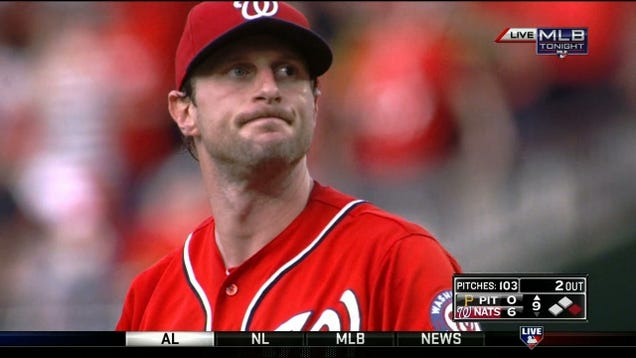 Max Scherzer Blows Perfect Game By Hitting The 27th Batter
