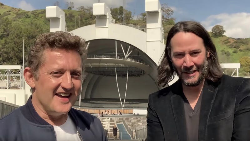 Alex Winter and Keanu Reeves posted a very special video today.