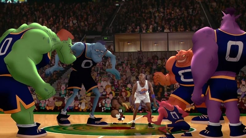 A still from 1996's Space Jam starring Michael Jordan. Lebron James will star in the sequel. Image: Warner Bros.