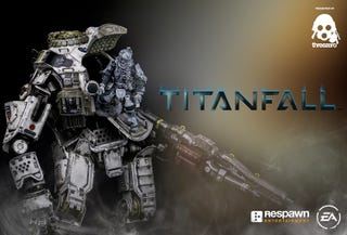 Illustration for article titled Painted Prototype of Threezero's Titanfall Titan And Pilot