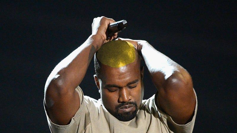 Artist's interpretation of Kanye's new 'do. (Image via Getty)
