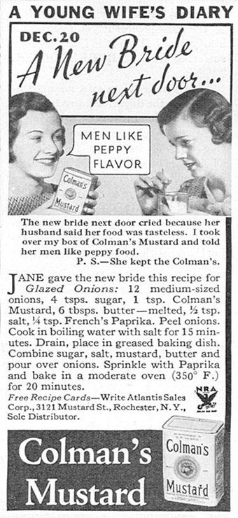 "Illustration for article titled Secret To A Happy Marriage Circa '33? ""Peppy Flavor."""