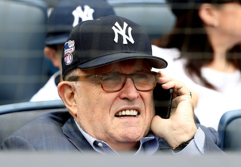 Rudy Giuliani, former New York City mayor and current lawyer for President Donald Trump, attends the game between the New York Yankees and the Houston Astros at Yankee Stadium on May 28, 2018, in the Bronx borough of New York City.