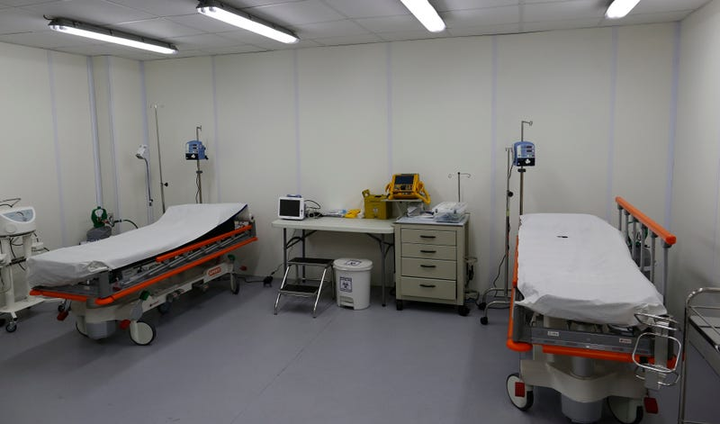 Wow what a beautiful photograph of medical equipment from the 2016 Olympic Village in Rio.