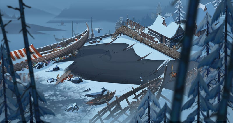 The Banner Saga Wallpaper: The Art Of The Banner Saga, One Of The Most Beautiful