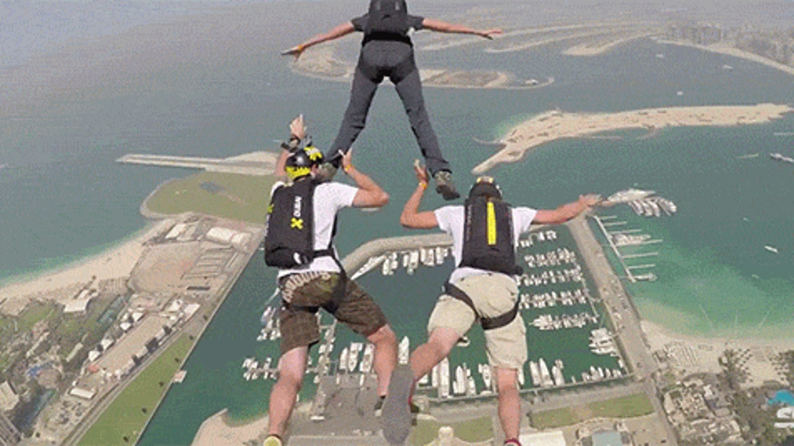 Base jumping off Dubai's tallest residential building got pretty wild