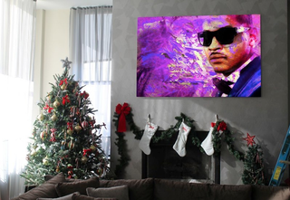 Illustration for article titled Carmelo Anthony Has A Big Painting Of Carmelo Anthony In His Living Room