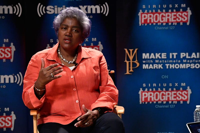 """DNC interim Chair Donna Brazile during a """"Leading Ladies"""" discussion at SiriusXM studios on Oct. 17, 2016, in Washington, D.C. Larry French/Getty Images for SiriusXM"""