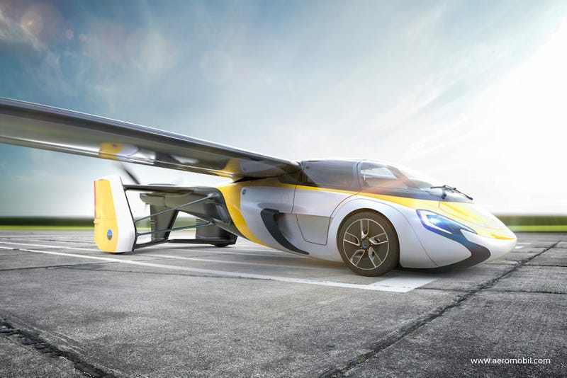 AeroMobil's latest flying car concept, which the company promises to make available for pre-order soon (Image: AeroMobil)