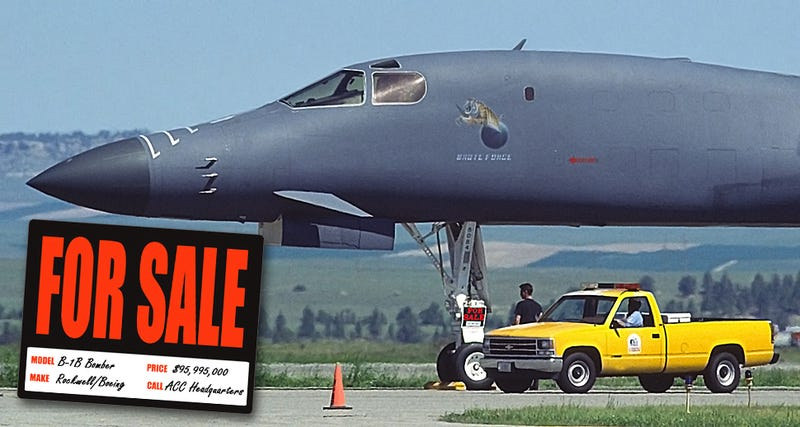 Illustration for article titled The B-1B Bomber That Got Put Up 'For Sale,' As Is, No Warranty