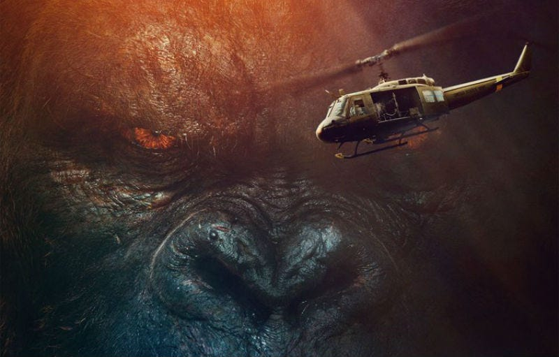 Illustration for article titled The Biggest, Baddest Ape is Back in the New Kong: Skull Island Trailer