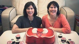 Kim And Kelley Deal Birthday Cake