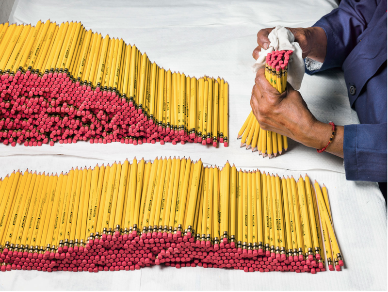 Illustration for article titled ever wonder how they make pencils?